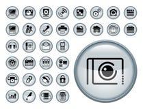 Web-Ikonen-Set Lizenzfreie Stockfotos