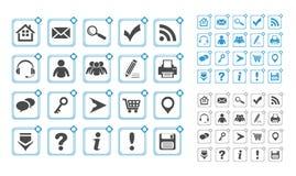 Web-Ikonen stellten ein lizenzfreie abbildung