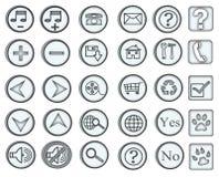 Web-Ikonen/Tasten Lizenzfreies Stockbild