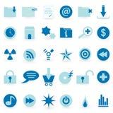 WEB-Ikonen- und Symbol vektorset Stockbilder