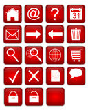 Web-Ikonenset Stockbild