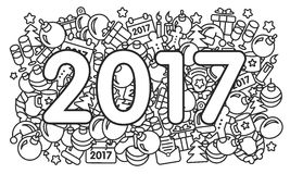 Web illustration new year 2017 pattern trend Stock Images