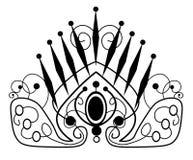 web ilustra??o do diadema bonito, coroa, tiara f?mea com pedras preciosas ilustração royalty free