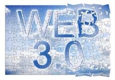 Web 3 0 - immagine di concetto nella forma di puzzle royalty illustrazione gratis