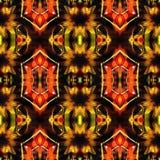 Web inconsútil tribal moderno anaranjado del modelo de Ikat Fotos de archivo