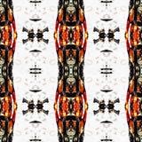 Web inconsútil tribal moderno anaranjado del modelo de Ikat Foto de archivo libre de regalías