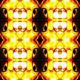 Web inconsútil tribal moderno anaranjado del modelo de Ikat Fotografía de archivo libre de regalías