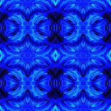 Web inconsútil tribal moderno azul del modelo de Ikat Imagenes de archivo