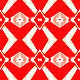 Web inconsútil tribal moderno rojo del modelo de Ikat Fotos de archivo libres de regalías