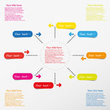 Web info graphic template with color icons Royalty Free Stock Photography