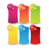 Web info-graphics banner with number options Royalty Free Stock Photo