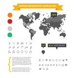 Web infographic elements set isolated Royalty Free Stock Photography