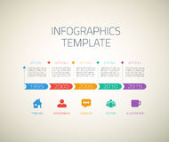 Web Infographic Timeline Arrows Template Layout Royalty Free Stock Image