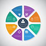 Web Infographic Timeline Pie Template Layout With royalty free illustration