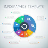 Web Infographic Timeline Pie Template Layout With Stock Photography