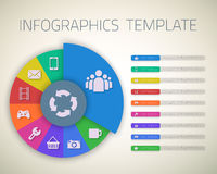 Web Infographic Timeline Pie Template Layout With Royalty Free Stock Photography