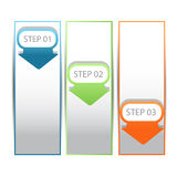 Web infographics arrow banner with number options Royalty Free Stock Images