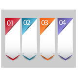Web infographics arrow banner with number options Stock Photo