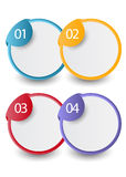 Web infographics banner with number options Stock Photo