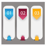 Web infographics banner with number options Royalty Free Stock Photos