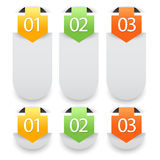 Web infographics banner with number options Royalty Free Stock Photo