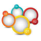 Web infographics banner with number options Stock Image