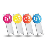 Web infographics banner,tag or label with number options Stock Images