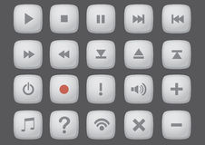 Web Interface Button Vector Computer Icon Set Royalty Free Stock Images