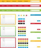 Web interface elements Stock Photo