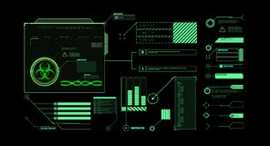 Interface elements HUD, UI, GUI. Vector Callout Titles set. Futuristic callout bar labels, information