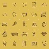Web and Interface Icon Set. A collection of internet and navigation icons. Vector illustration Stock Image