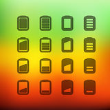Web interface icons clip-art on color background Stock Photo