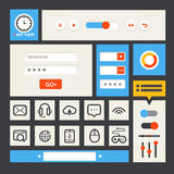 Web interface template Royalty Free Stock Image