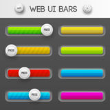 Web interface ui elements. Vector illustration Royalty Free Stock Photos