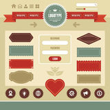 Web Interface Vintage 01 Royalty Free Stock Photo