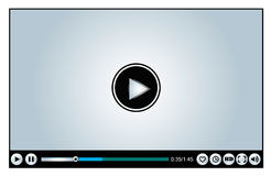 Web or Internet based Video Player Royalty Free Stock Photos