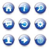 Web Internet Blue Vector Button Icon Set Stock Photo