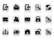 Web and internet button icons Royalty Free Stock Photography