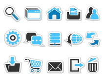 Web internet button icons set Royalty Free Stock Image