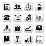 Web internet buttons set -  Royalty Free Stock Photos