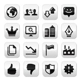 Web internet buttons set - vector Royalty Free Stock Photography