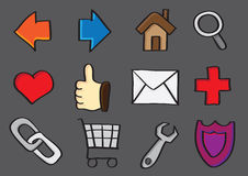 Web Internet and Computer Icons Royalty Free Stock Images