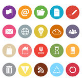 Web and internet flat icons on white background Royalty Free Stock Photography