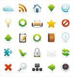 Web and internet icon set Stock Photos