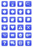 Web and internet icon set. Blue color Royalty Free Stock Images