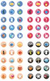 Web and internet icon set. Many color Stock Photos