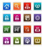 Web & Internet Icons 1 -  sticker series Royalty Free Stock Photos
