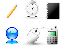 Web and internet Icons. Buttons for web sites and internet. 6 business icons Royalty Free Stock Photo