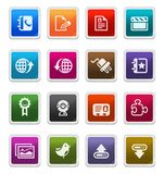 Web & Internet Icons 3 - sticker series Stock Image
