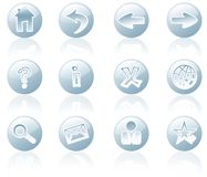 Web and Internet Icons. At white background Stock Photos